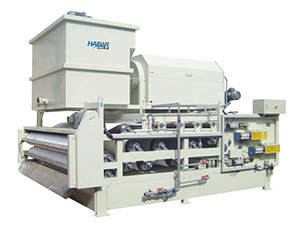 HTE Belt Filter Press Combined Rotary Drum Thickener, Heavy Duty Type
